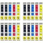 20 Ink Cartridges non-OEM to replace T0715 & T0711 Compatible (4x Set + Black)