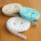 3 yards: Classic & Simple! 10mm Cotton Picot Lace Trim Sewing Craft DIY