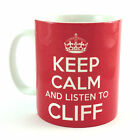 NEW KEEP CALM AND LISTEN TO CLIFF RICHARD GIFT MUG CUP CARRY ON BRITANNIA RETRO
