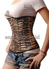 Goth Gold Sequin Zebra Print Corset Size S-6XL  Bustier Glamourous SCG- A014