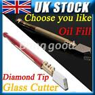 Quality Diamond Tipped Glass Cutter Craft Glazing Cutting Hand Tool Special KIt