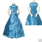 New Girl National Pageant Wedding Blue Formal Party Dress size: 6 8 10 12 14