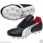 Puma V6.08 R HG Junior 10163602 Black White Kids Soccer shoes Football Cleat New