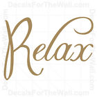 Relax Bathroom Wall Decal Vinyl Art Sticker Quote Inspirational Saying BA09