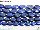 Natural Lapis Lazuli Gemstone Oval Beads 16'' 8mm 10mm 12mm 14mm 16mm 18mm 20mm