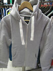 URBAN DIVA MENS SILVER GREY PLAIN HOODED ZIP UP HIPHOP JACKET HOODIES L XL XXL