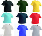 Kids Plain T Shirt Age 2 to 13 School P.E Top 100% Cotton Boys Girls Childrens