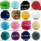 "5X Tissue 4"" Paper Pom-Poms Flower Wedding Party Home Outdoor Crafts Decoration"
