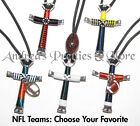 NFL TEAMS Disciples Cross Horseshoe Nail Necklace - Choose Your Team on eBay