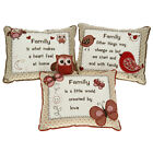 FAMILY SENTIMENT CUSHION LOVELY PERSONAL BIRTHDAY / CHRISTMAS GIFT NEW