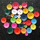 """50 Mix color 2 Hole Wood Buttons Sewing Cloth 1"""" 3/4"""" 1/2"""" 25mm 20mm 12mm GBPPPP"""