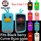 3 For 2 New Cute Chick Fits Blackberry Curve 8520 Case, 8530/9300 Silicone Cover