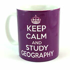 NEW KEEP CALM AND STUDY GEOGRAPHY CARRY ON GIFT MUG CUP STUDENT RETRO TEACHER