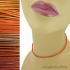 ORANGE Custom LEATHER Cord Necklace / Choker - YOUR Size /Length - for pendant +