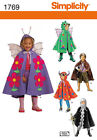 PATTERN SIMPLICITY Monster Fairy Knight 3 to 8 Kids Halloween Cape Costume 1769