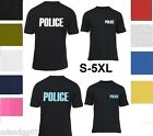 POLICE T-SHIRT Sheriff Event Bouncer Party Guard Police Shirt Tee  S-5XL