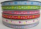 """3/8"""" 5 YARDS FLY WITH BUTTERFLY GROSGRAIN RIBBON - 6 COLORS U PICK"""