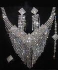 CHOOSE FAST 2SETS Bridal Queen Clear Rhinestone Necklace EarringsBracelet#61-#78