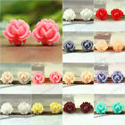 New 10x10mm Flowers Vintage Style Cameo Resin Cabochons Jewelry Making Wholesale