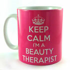 NEW KEEP CALM I'M A BEAUTY THERAPIST GIFT MUG CUP AND CARRY ON THERAPY PRESENT