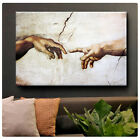 "Michelangelo ""The Creation of man"" ALL SIZES CANVAS Print Poster GICLEE Art wall"