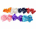 U Pick 2 New Girls HairBows Polka Dots Hair Bow Pin Clip Accessories Kids Gifts