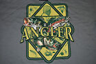 American Angler Fly Spin Trout Bass Muskie Fishing Reel Rod TEE SHIRT XL XXL NWT