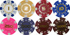 NUMBERED DICE POKER CHIPS 1 Yellow 2 Red 5 Blue 10 Pink 250 Purple 500 1000 5000