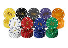 NUMBERED POKER CHIPS HOT STAMPED GOIL FOIL BOTH SIDES 11.5G SUITED DESIGN Pk 25