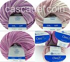100% Combed Cotton Ribbon Weight Italian Yarn Two Skeins 142 yards each Cleo
