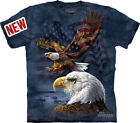 "New ""EAGLE FLAG COLLAGE"" TEE T-SHIRT MOUNTAIN ADULT SIZE S, M, L, XL, 2XL, 3XL"