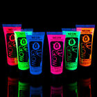 UV Glow Neon Face & Body Paint - 10ml SET of 6 - Fluorescent & Super Bright fluo
