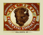 Buffalo Chewing Tobacco Cigar St. Louis Detroit Vintage Poster Repro FREE S/H