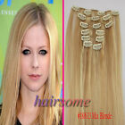 "15""18""20""22"" Clip In Real Human Hair Extensions #18/613 Mix Blonde 70g 90g 100g"