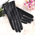 Women's Winter Super warm Nappa leather Gloves Cashmere Lining  Gold Plated Logo