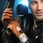 Top grade Men's unlined Deerskin leather driving Gloves cutout at back