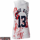 DARKSIDE CLOTHING ZOMBIE KILLER UNISEX WHITE BEATER VEST HORROR BLOOD SPLAT NEW