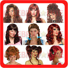 New Ladies Fancy Dress Up Party Costume Wig Long Short Wavy Straight Beehive