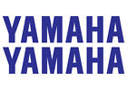 2 x YAMAHA Decals, 295 x 65 mm, Silver Chrome Vinyl Tank Stickers, 15 Colours