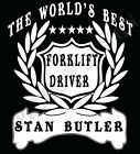 Forklift Driver T-Shirt Personalised Add Name Great Gift Idea Customised Truck