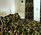 KHAKI CAMOUFLAGE DUVET SETS, CURTAINS AND ACCESSORIES
