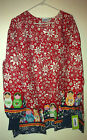 Lab coat Lab Jacket Warmup Christmas Red/White & dolls on Border by Landau
