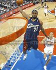 Lebron James Cleveland Cavaliers blue jersey dunk 8x10 11x14 16x20 photo 468