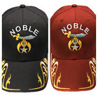 Noble Shriners with Gold Trim Hat Cap Embroidered in the USA 867RY