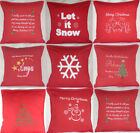 """Personalised Christmas present Appliqued Embroidered Xmas 16"""" 18"""" Cushion Cover"""