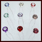 6 pcs  x  Crystal Wedding Party Bridal Prom Flower Star Hair Pin Clips