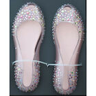 Bride open toe flat ballerina ladiess Shoes slip on dress shoes [JG]