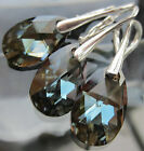 Earrings and Pendant 16mm Pear Teardrop 925 Silver made with SWAROVSKI ELEMENTS