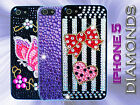 iPHONE 5 DIAMOND DIAMANTE BLING CASE COVER