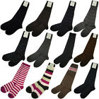Lot 3p New BASS Womens Knee High Boot Socks Color Stripes Polka Dots Floral 9-11